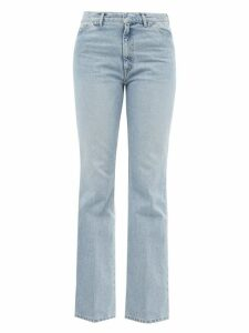 Adriana Degreas - Aglio Print Silk Crepe De Chine Wide Leg Trousers - Womens - White Print