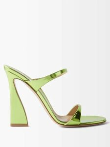 Saloni - Olivia Lemon Print Silk Crepe Midi Dress - Womens - Pink Multi