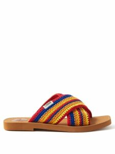 La Doublej - Floral Print Silk Shirtdress - Womens - Red Multi