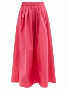 Altuzarra - Currie Bird Print Tiered Chiffon Gown - Womens - Light Blue