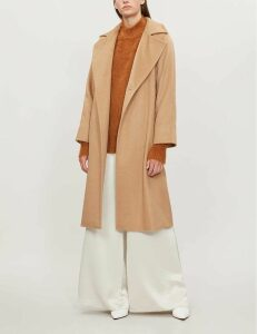 Max Mara Manuela camel-hair wrap coat, Women's, Size: 6, Camel