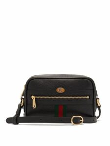 Gucci - Ophidia Mini Leather Cross Body Bag - Womens - Black