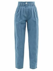 Albus Lumen - Lerache Cotton Canvas Shirtdress - Womens - Brown