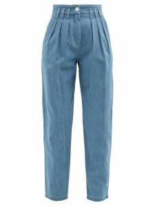 Albus Lumen - Lerache Cotton Canvas Shirtdress - Womens - Brown