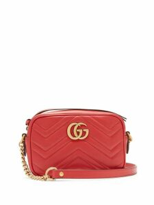Gucci - Gg Marmont Mini Quilted Leather Cross Body Bag - Womens - Red