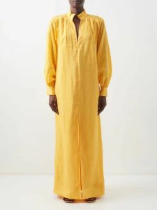 Sea - Leo Ruffled Leopard Print Cotton Voile Top - Womens - Leopard
