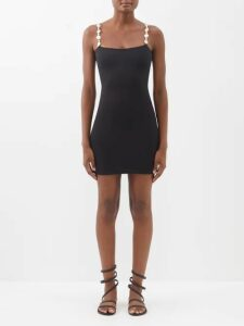 Jimmy Choo - Smokey 100 Glitter Encrusted Leather Mules - Womens - Silver