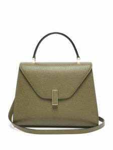 Valextra - Iside Medium Leather Bag - Womens - Khaki
