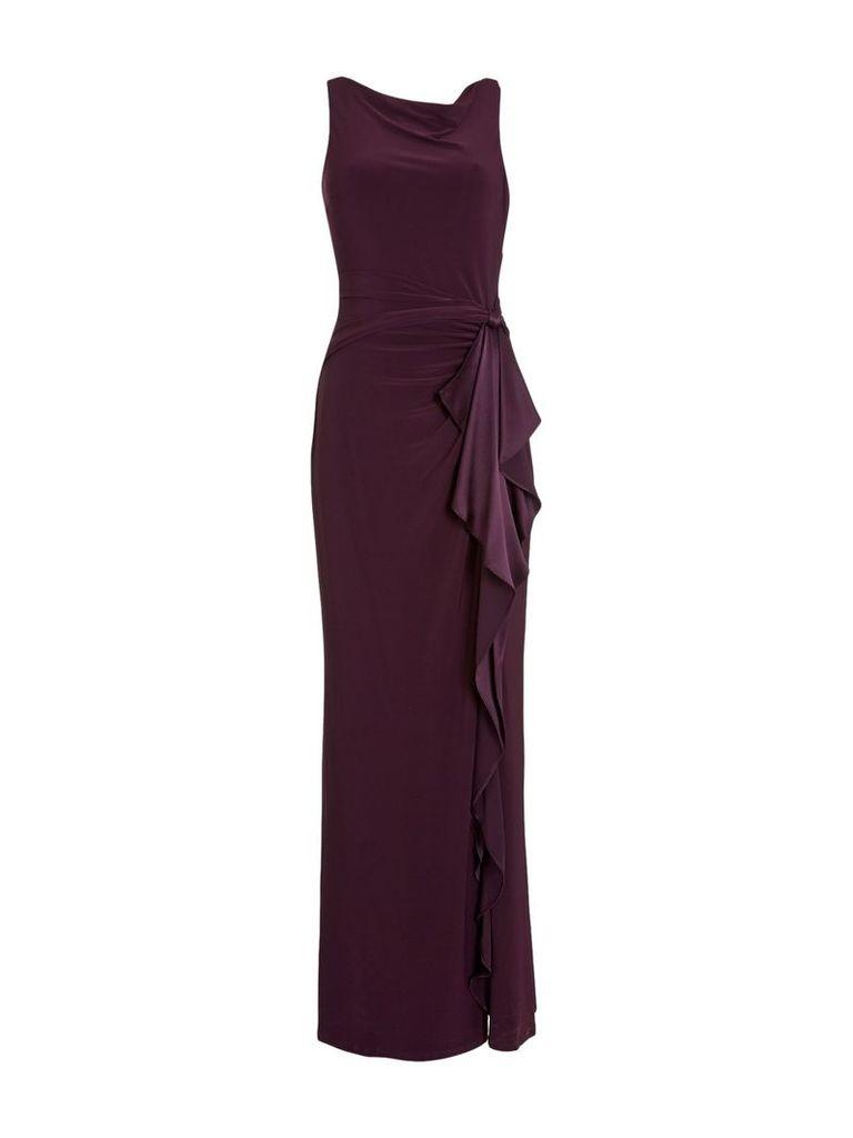 Lauren Ralph Lauren Truly jersey gown with silk tie belt, Brown