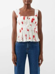Chloé - Degradé Leather Sandals - Womens - Red Multi