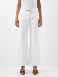 Koché - Asymmetric Panelled Lace Embellished Shirtdress - Womens - Black Multi