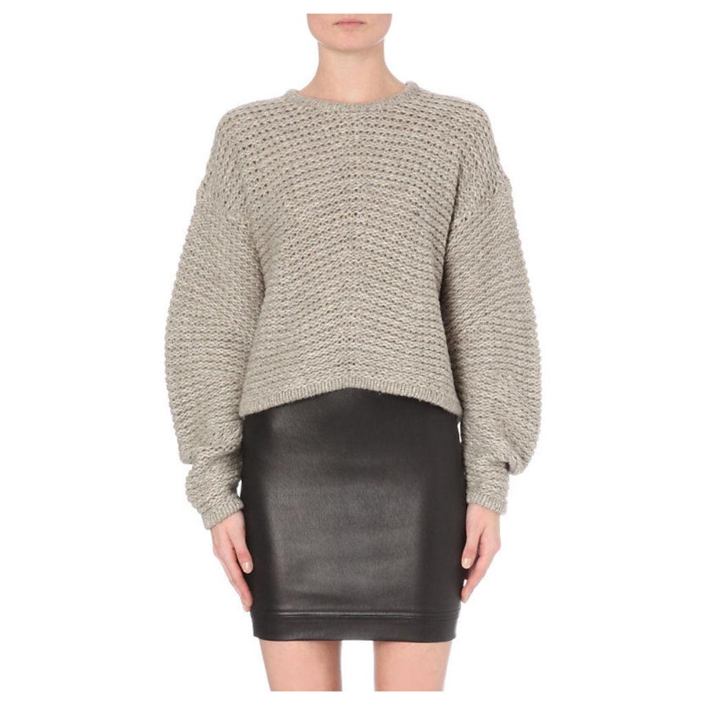 Helmut Lang Oversized Chunky Knit Wool-Blend Jumper - for Women