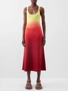 Sea - Ruffled Floral Print Cotton Blouse - Womens - Pink Multi