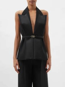 Giuliva Heritage Collection - The Mary Angel Tie Waist Linen Dress - Womens - Light Blue