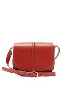 A.p.c. - Betty Smooth Leather Cross Body Bag - Womens - Orange