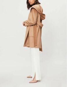 Max Mara Rialto hooded camel hair coat, Women's, Size: 03/01/1900, Camel