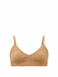 Gucci - Snake Effect Leather Mini Slip Dress - Womens - Beige Print