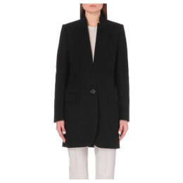Stella Mccartney Ladies Black Timeless Bryce Wool-Blend Coat