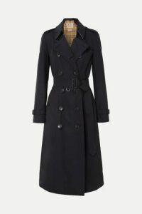 Burberry - The Chelsea Long Cotton-gabardine Trench Coat - Midnight blue