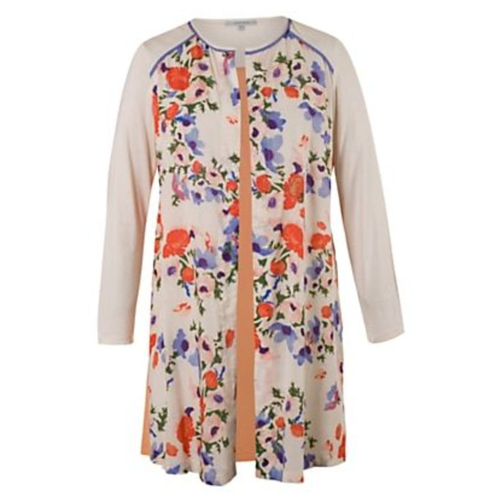 Chesca Floral Jacket, Cream