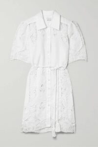 Prada - Suede And Corduroy-trimmed Houndstooth Wool And Mohair-blend Blazer - Brown