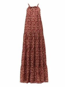 Dodo Bar Or - Dorothy Tiered Floral Print Cotton Maxi Dress - Womens - Red Print