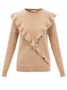 La Doublej - Bellini Tiered Cotton Poplin Dress - Womens - Blue