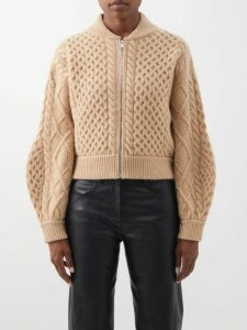 Burberry - Logo Knit Round Neck Cashmere T Shirt - Womens - Grey