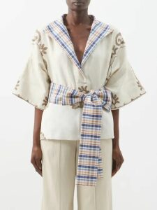 Rhode - Frida Floral Print Cotton Voile Midi Dress - Womens - Yellow Print