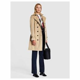 Burberry Women's Beige Sandringham Double-Breasted Cotton-Gabardine Trench Coat
