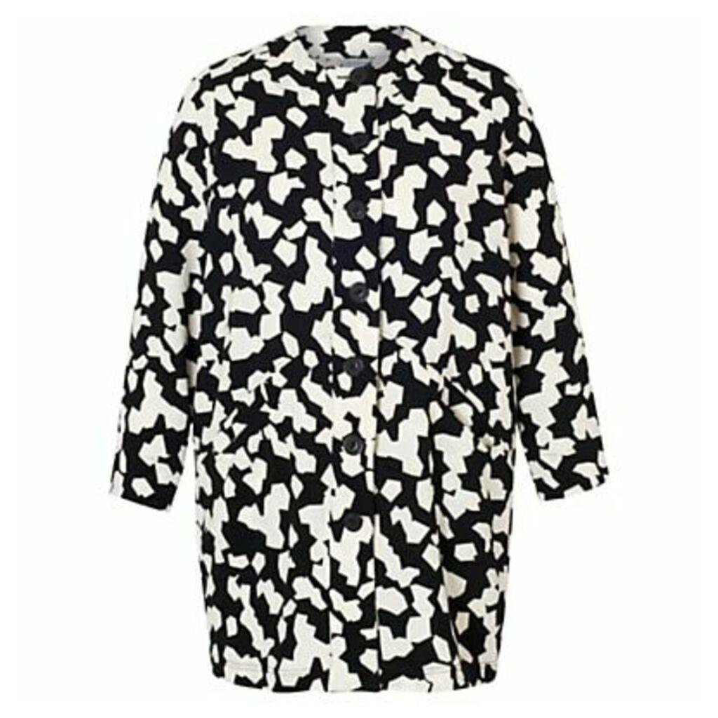 Chesca Jigsaw Coat, Black Ivory