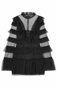 alice McCALL - The Zen Tiered Swiss-dot Tulle Mini Dress - Black