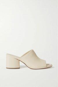 Tibi - Tissue Asymmetric Leather Midi Skirt - Yellow