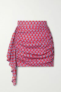 Dolce & Gabbana - Lace-up Satin-trimmed Lace Pencil Skirt - Black