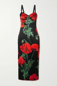Hellessy - Emerson Fringe-trimmed Moire Wrap Maxi Dress - Pink
