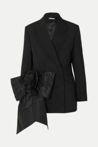 Miu Miu - Bow-embellished Mohair And Wool-blend Blazer - Black