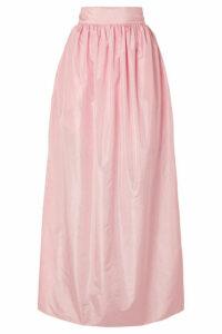 Michael Lo Sordo - Rose Pleated Silk-taffeta Maxi Skirt - Pastel pink
