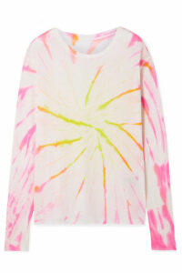 The Elder Statesman - Cyclone Tie-dyed Cashmere And Silk-blend Sweater - Pink