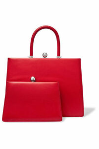 Ratio et Motus - Twin Frame Leather Tote - Red