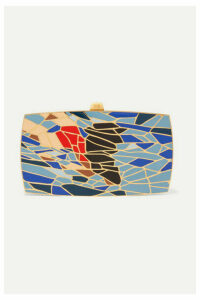 13BC - The Dive Gold-tone And Enamel Clutch - One size