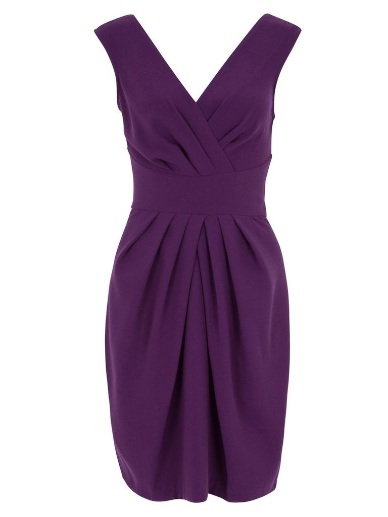 Almari Cross Over V Back Dress, Purple