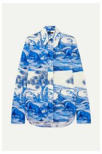 Ellery - Walpole Printed Stretch-silk Shirt - Blue