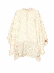 Sonia Rykiel - Diagonal Knit Cotton Blend Poncho - Womens - White