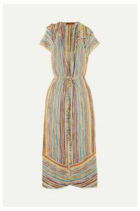 Missoni - Striped Metallic Crochet-knit Robe - Yellow