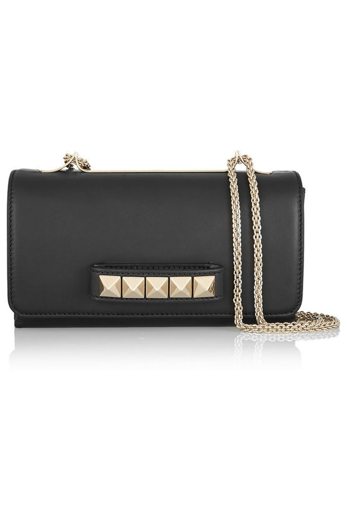 Valentino - Valentino Garavani Va Va Voom Leather Shoulder Bag - Black
