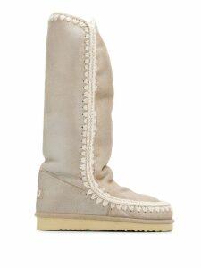 Mou Eskimo metallic knee-high boots - Neutrals