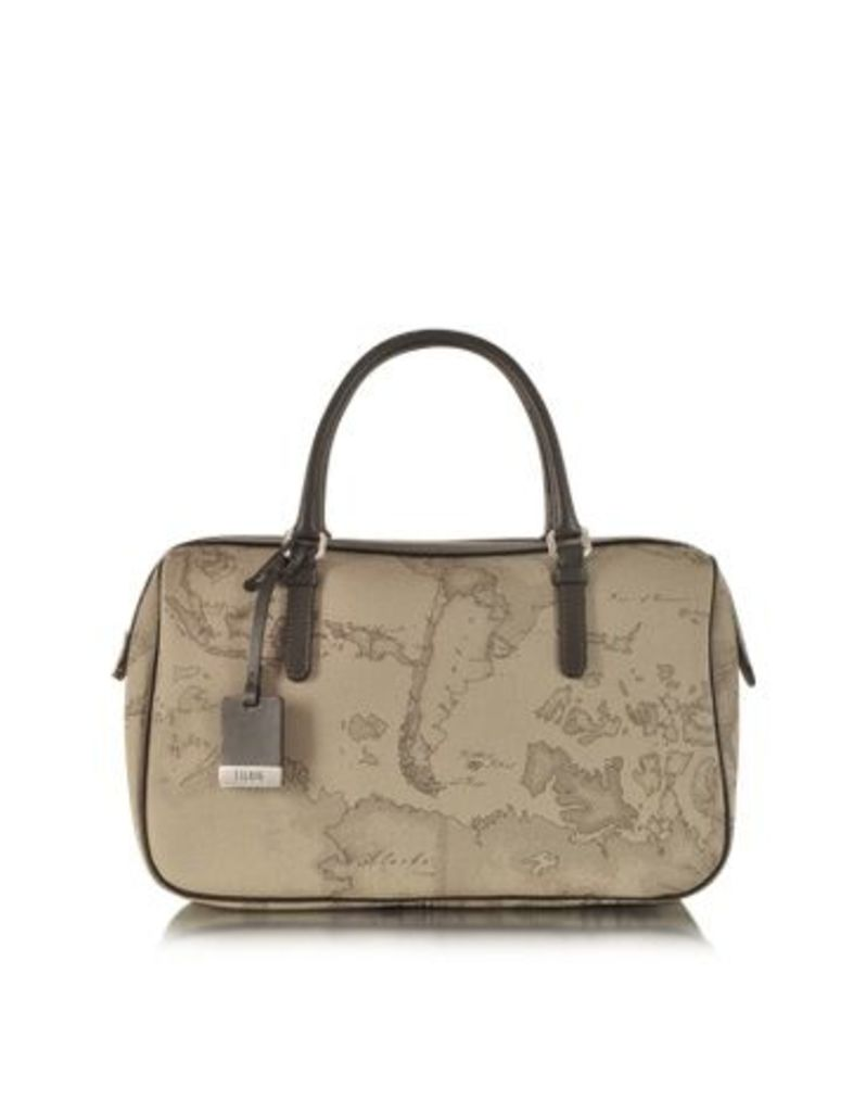 Alviero Martini 1A Classe Designer Handbags, 1a Prima Classe - Geo Printed Medium 'New Basic' Satchel Bag