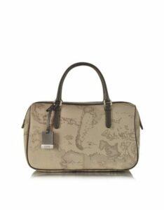 Alviero Martini 1A Classe Designer Handbags, 1a Prima Classe - Geo Printed Medium 'New Basic' Satchel Bag