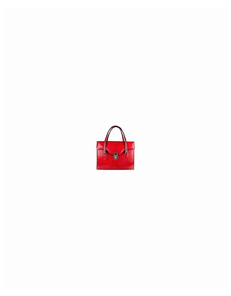 L.A.P.A. Designer Briefcases, Women's Red Leather Briefcase