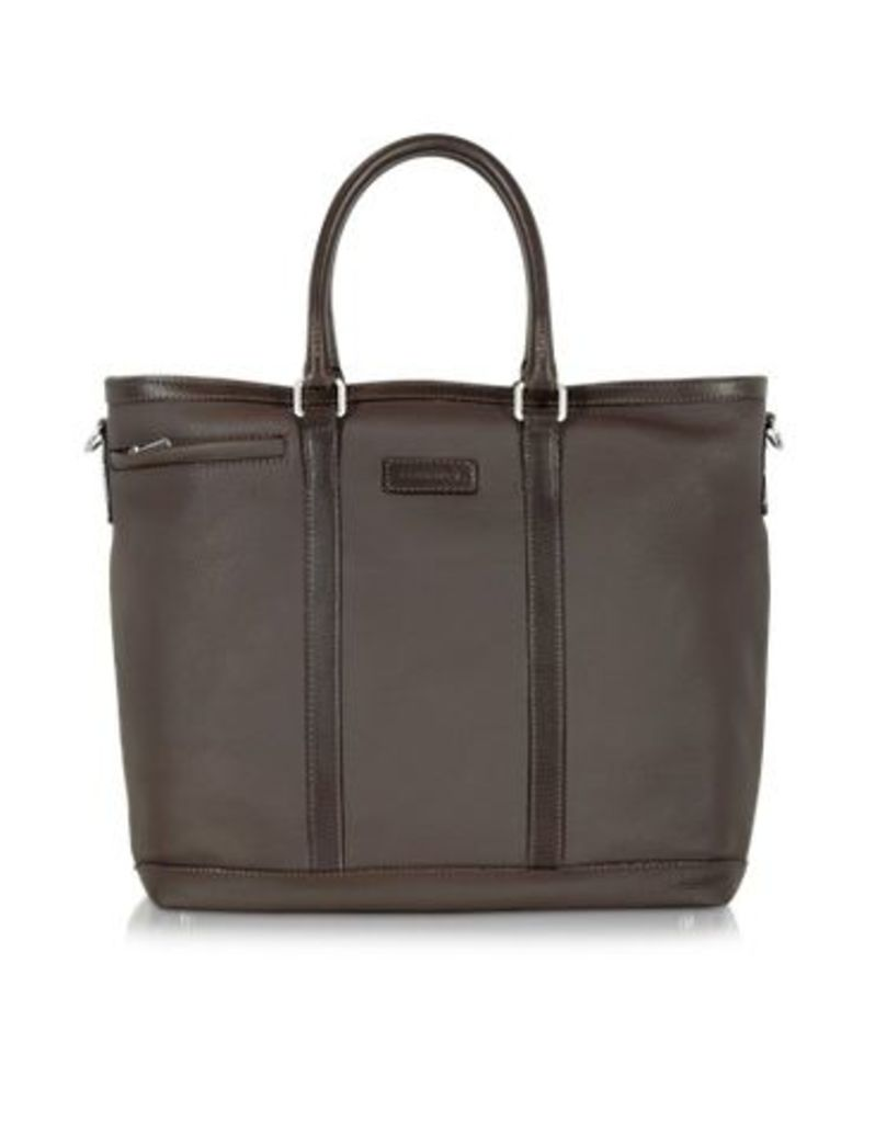 Chiarugi Designer Briefcases, Dark Brown Large Leather Tote